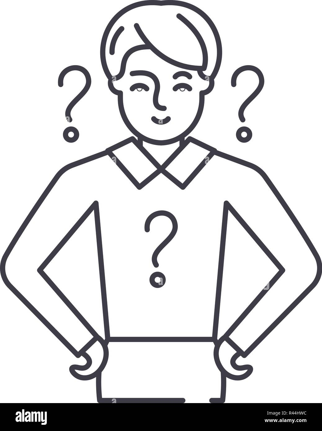 Management issues line icon concept. Management issues vector linear illustration, symbol, sign - Stock Vector