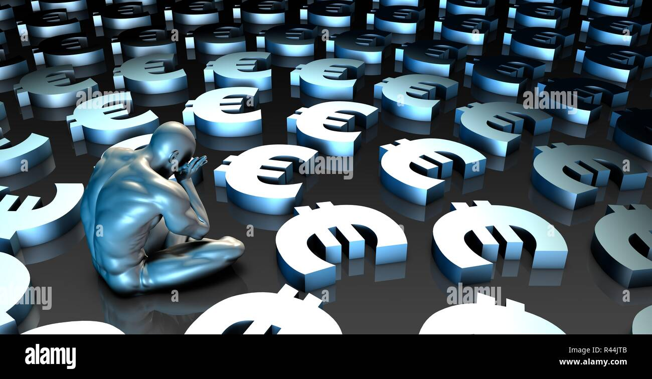 Weak Euro - Stock Image