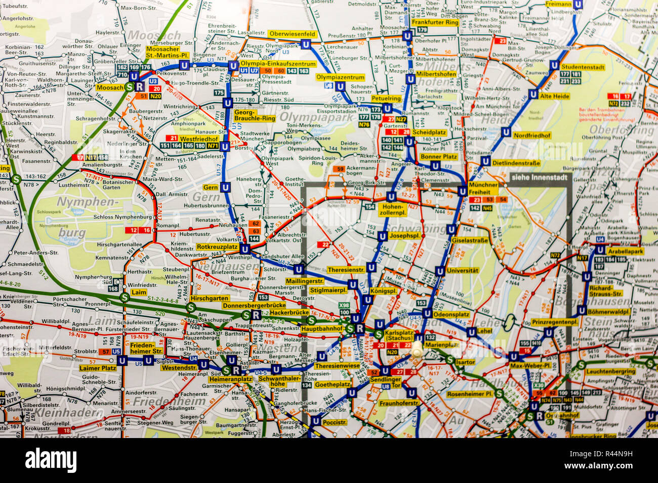 Munich Subway Map.U Bahn Map Stock Photos U Bahn Map Stock Images Alamy