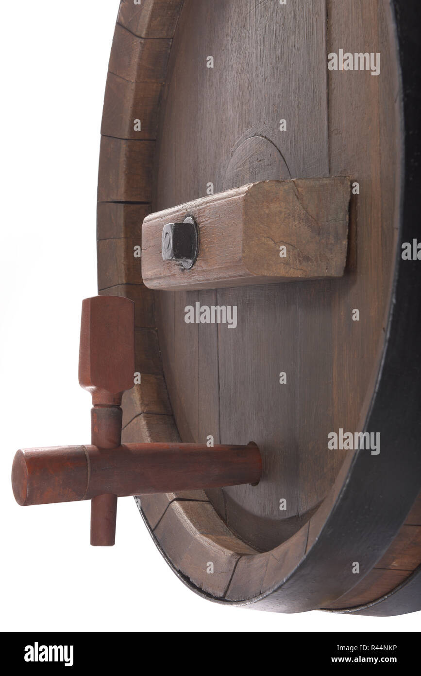 old beer barrel with tap - Stock Image