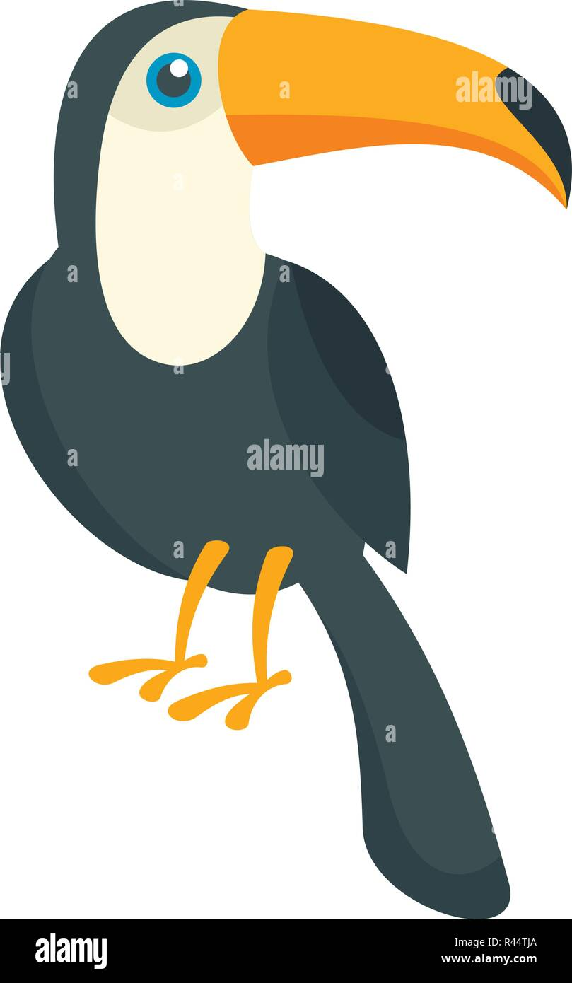 Toucan bird icon  Flat illustration of toucan bird vector