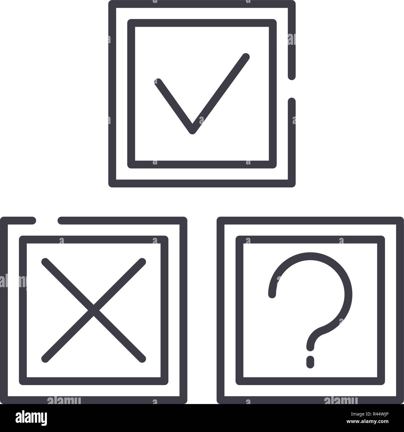 Rebus line icon concept. Rebus vector linear illustration, symbol, sign - Stock Image