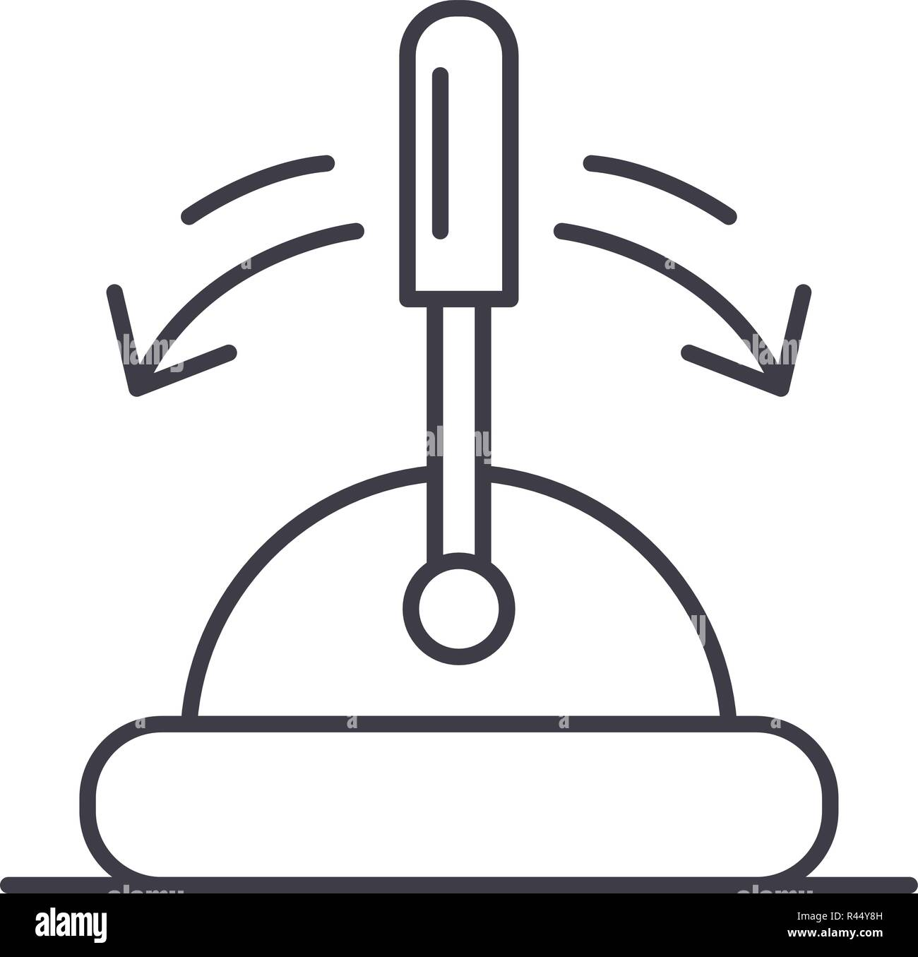 Toggle switch line icon concept. Toggle switch vector linear illustration, symbol, sign - Stock Image