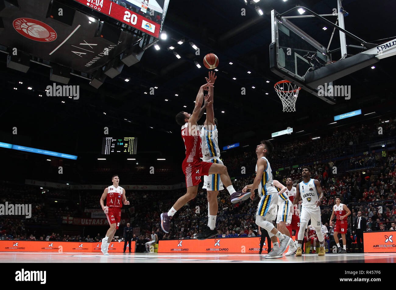 4c3bfc15ac3 Italy, 25 novembre 2018 Assago (MI) Italia sport basket AX Armani Exchange  Olimpia