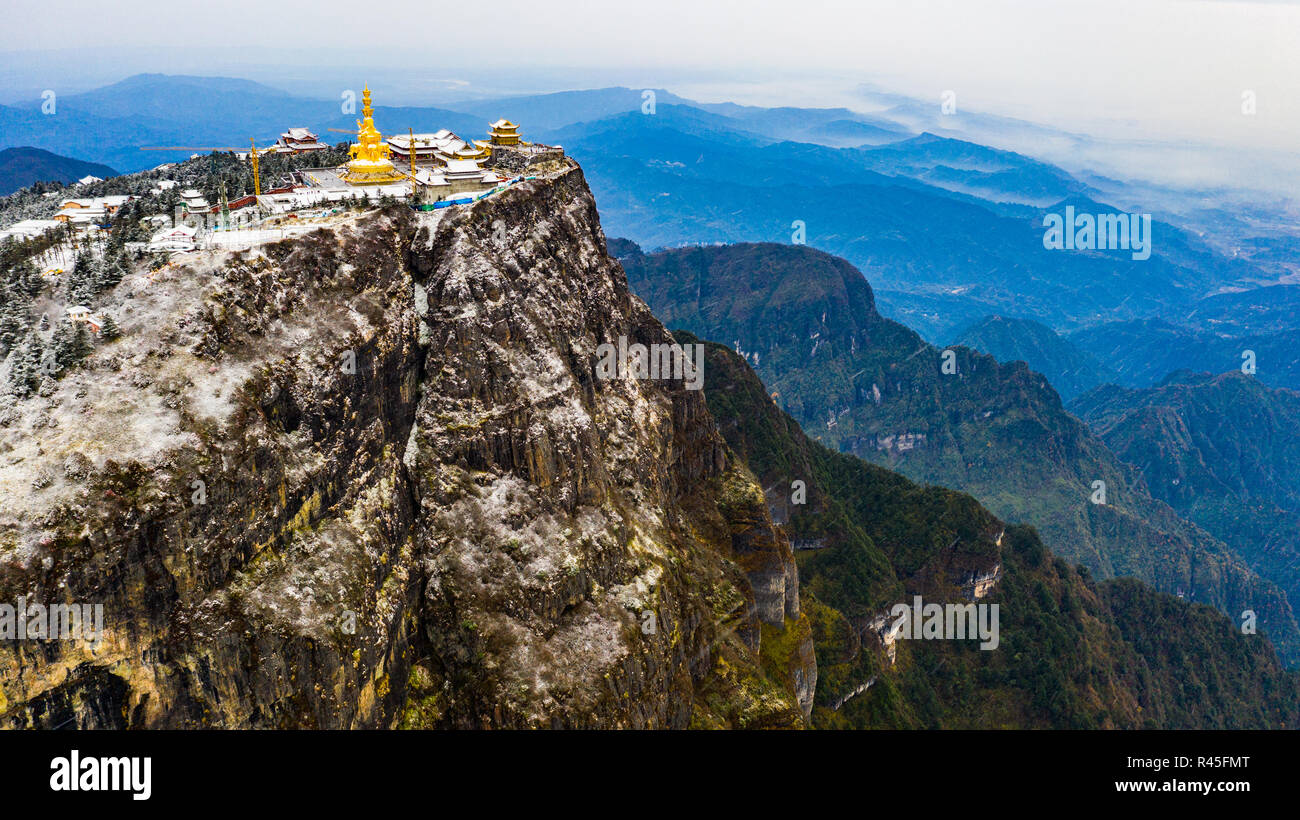 Emeishan or Emei Mountain, Sichuan Province, China - Stock Image