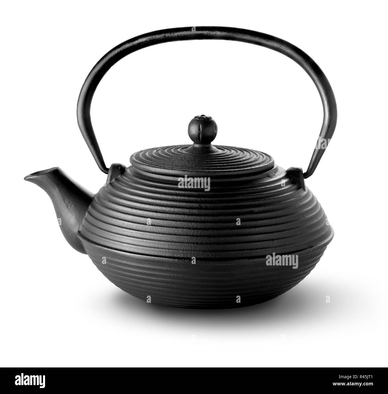Chinese teapot isolated - Stock Image