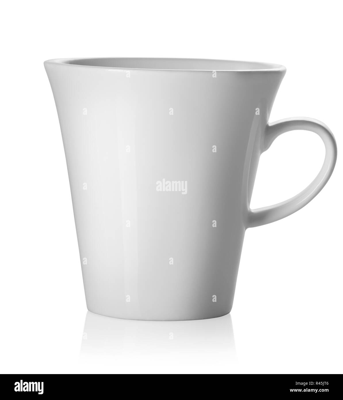 Teacup isolated on white - Stock Image