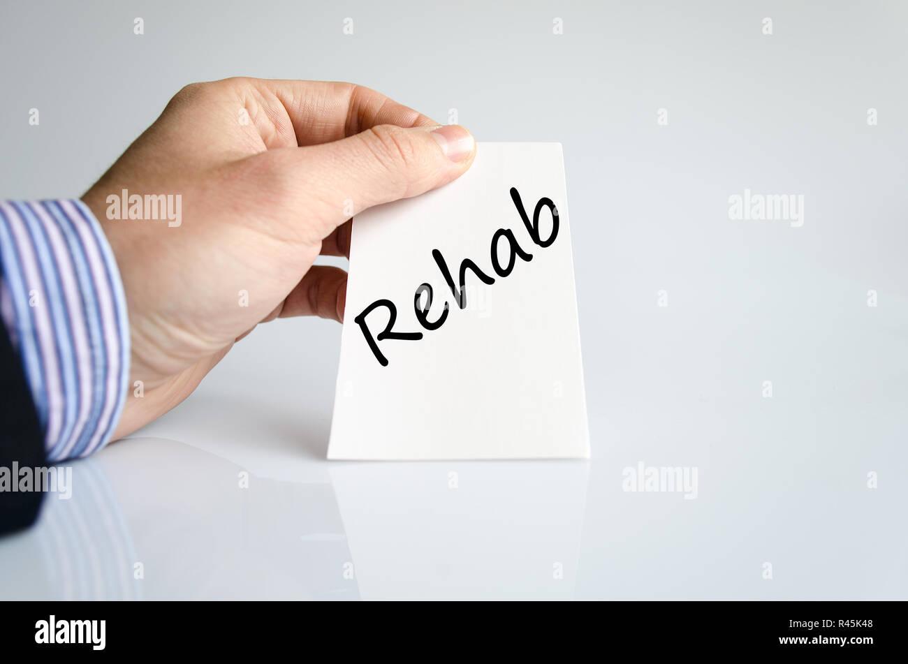 Rehab text concept - Stock Image