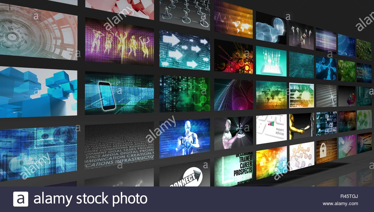 Video Screens Abstract - Stock Image