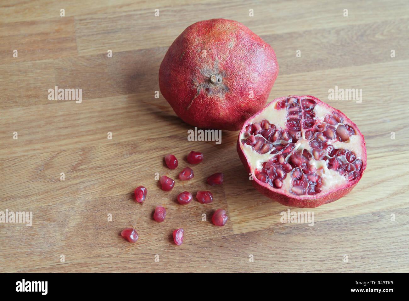 Pomegranate, close up Stock Photo