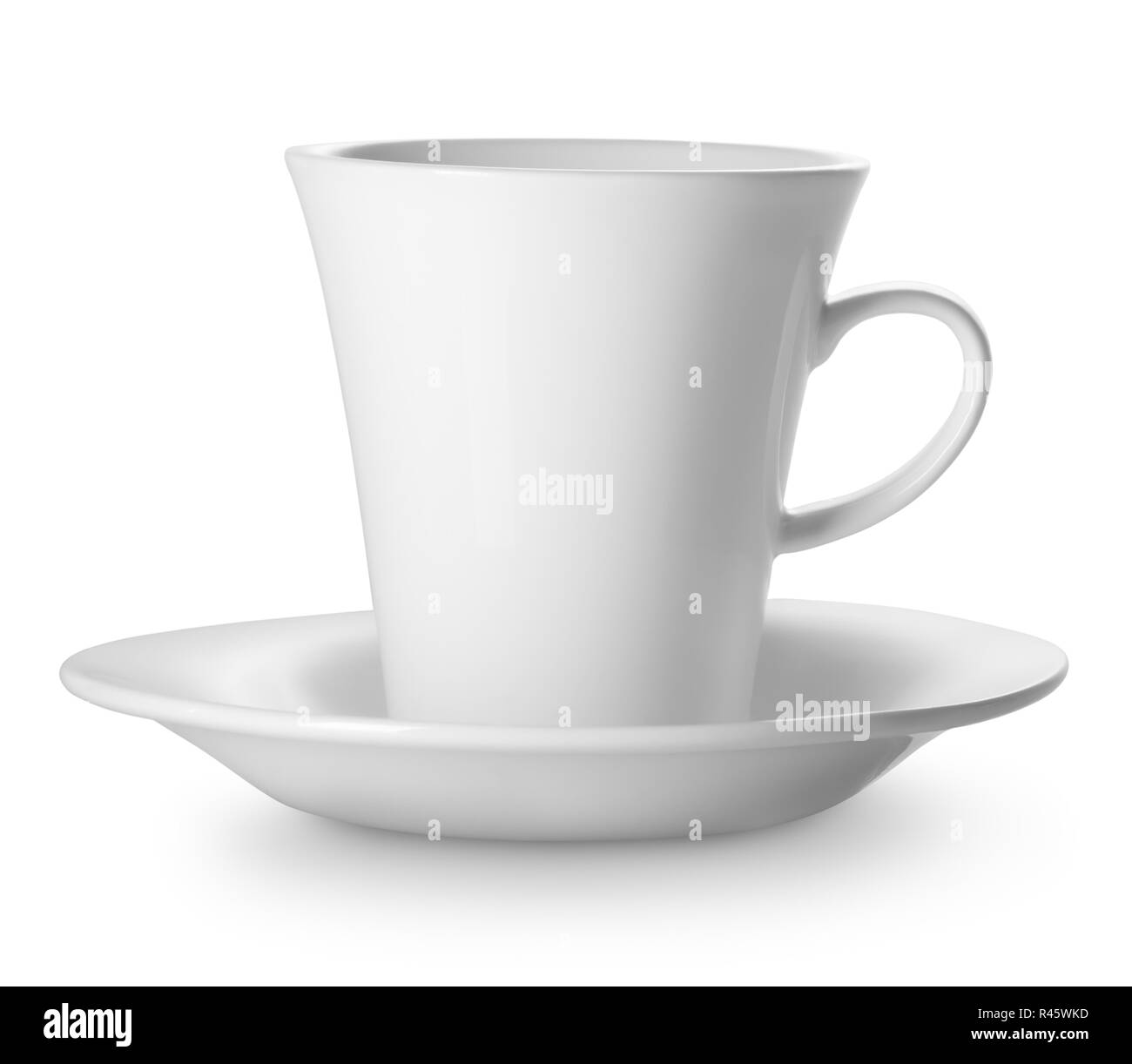 Cup on saucer - Stock Image