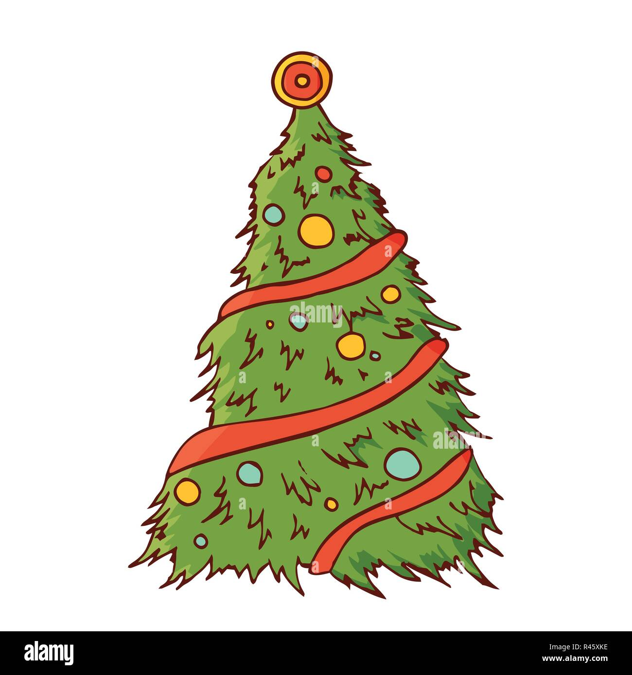 Christmas Tree Vector Vectors Stock Photos & Christmas Tree Vector ...
