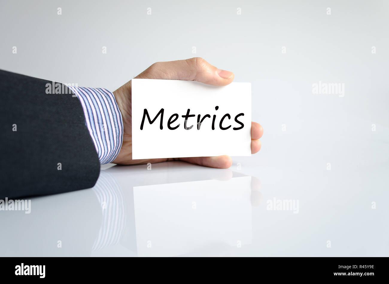 Metrics text concept - Stock Image