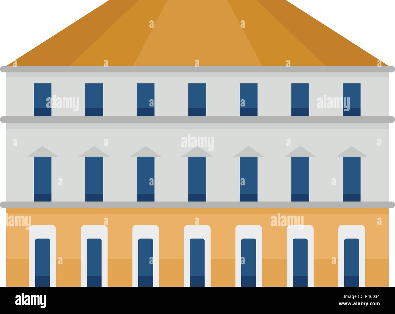 Milan building icon. Flat illustration of milan building vector icon for web isolated on white - Stock Vector