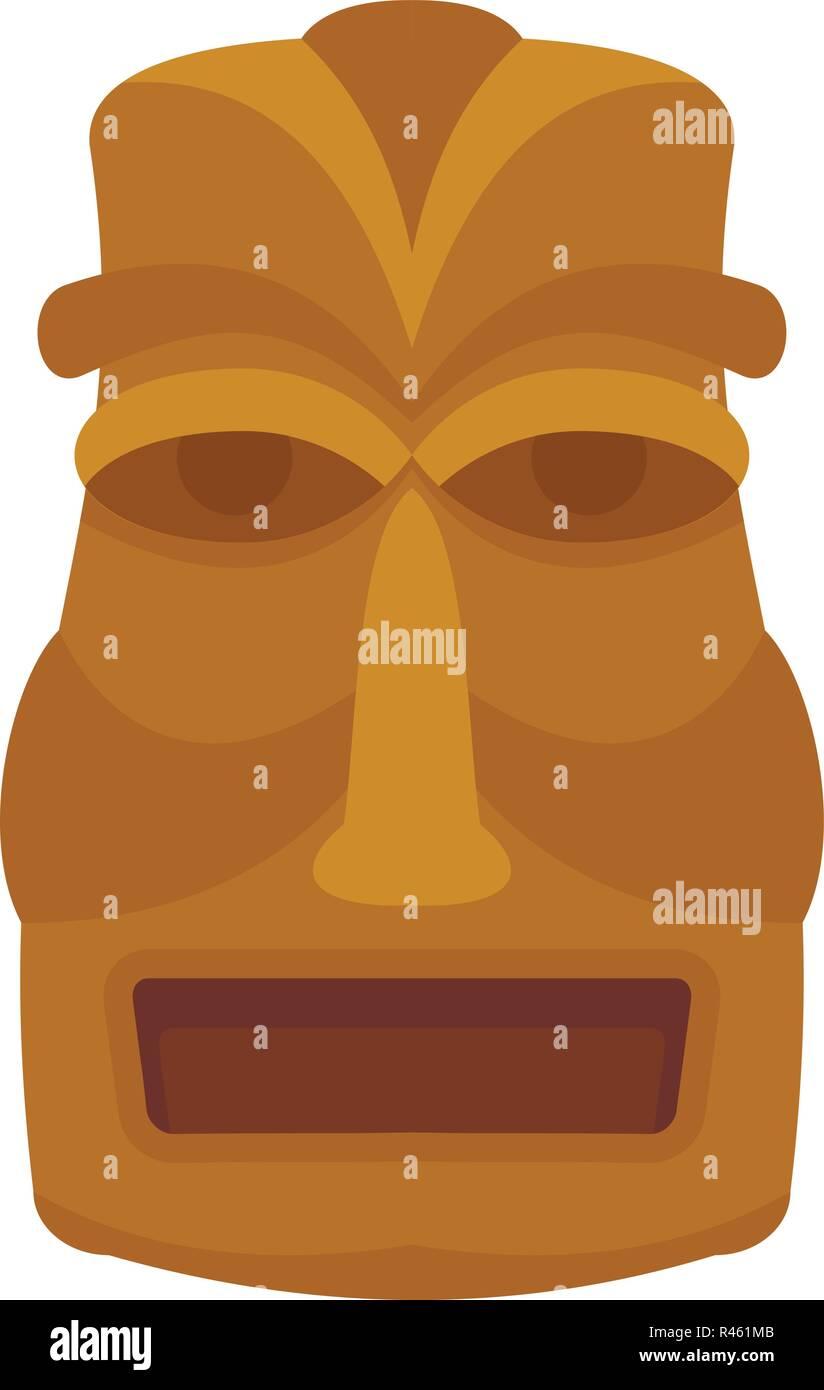 Hawaian idol icon. Flat illustration of hawaian idol vector icon for web isolated on white - Stock Vector