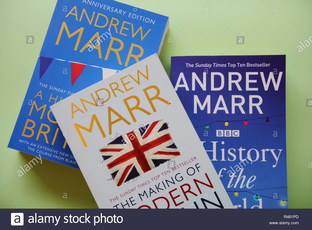 A selection of history books by Andrew Marr - Stock Image