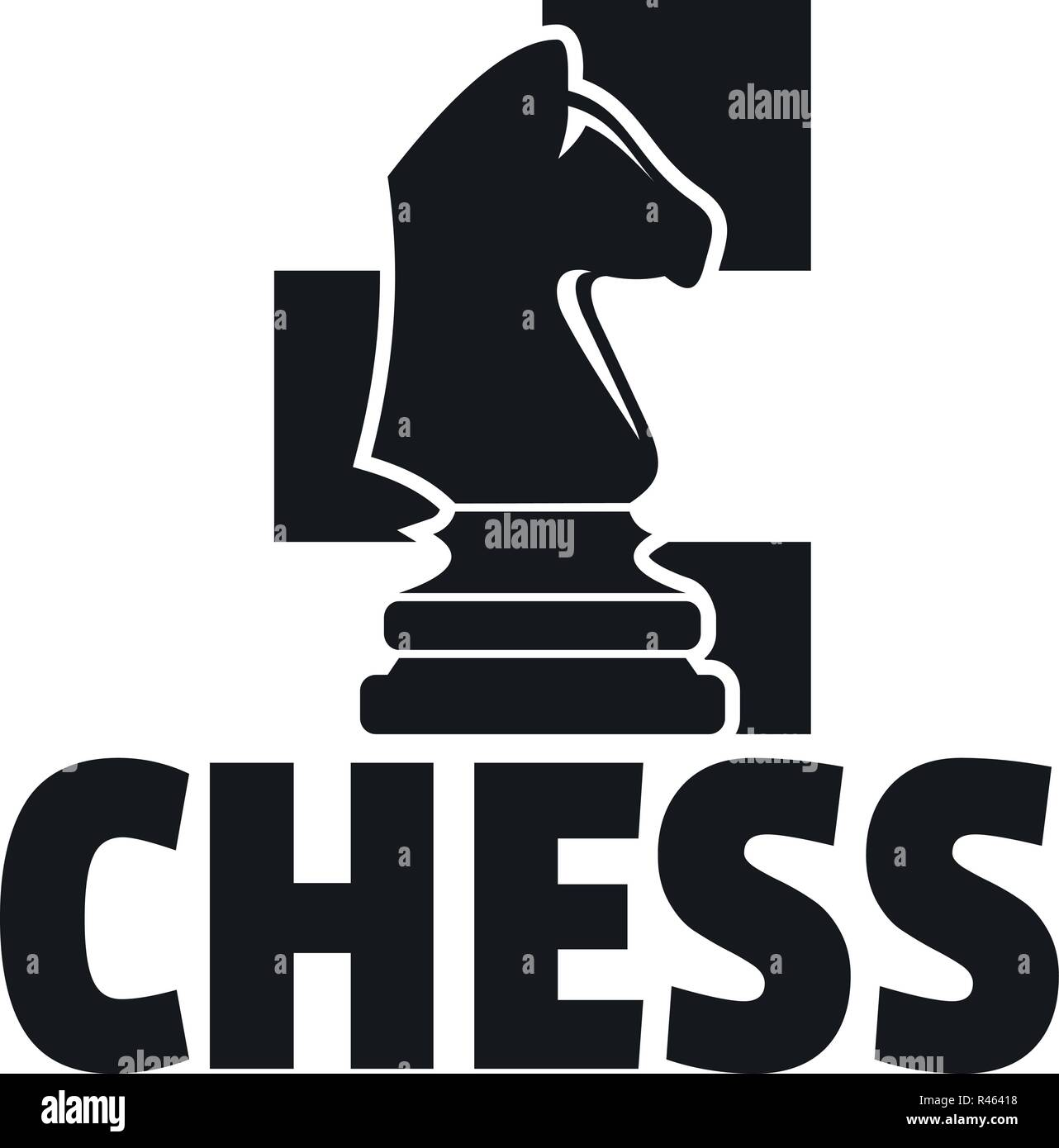 Chess Horse Logo Simple Illustration Of Chess Horse Vector Logo For Web Design Isolated On White Background Stock Vector Image Art Alamy