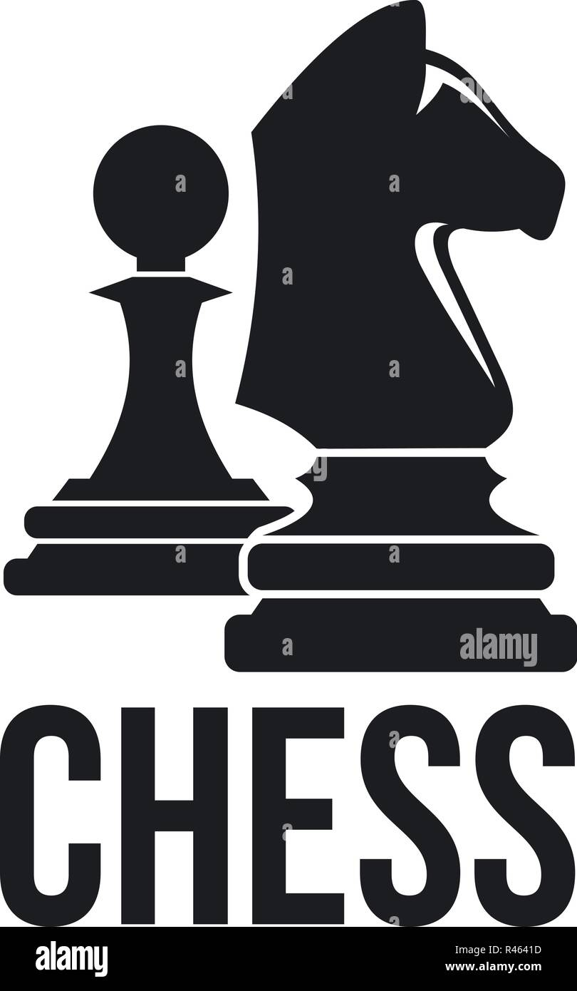 Chess Horse Pawn Logo Simple Illustration Of Chess Horse Pawn Vector Logo For Web Design Isolated On White Background Stock Vector Image Art Alamy