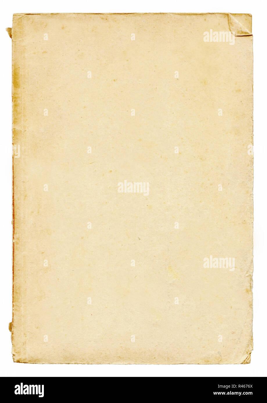 vertical blank old vintage paper - Stock Image