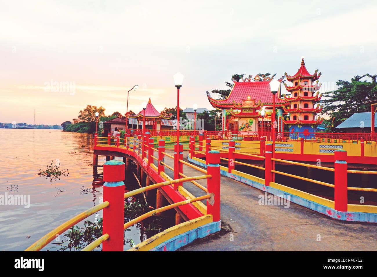 chinese temple in sambas regency, west kalimantan, indonesia - Stock Image