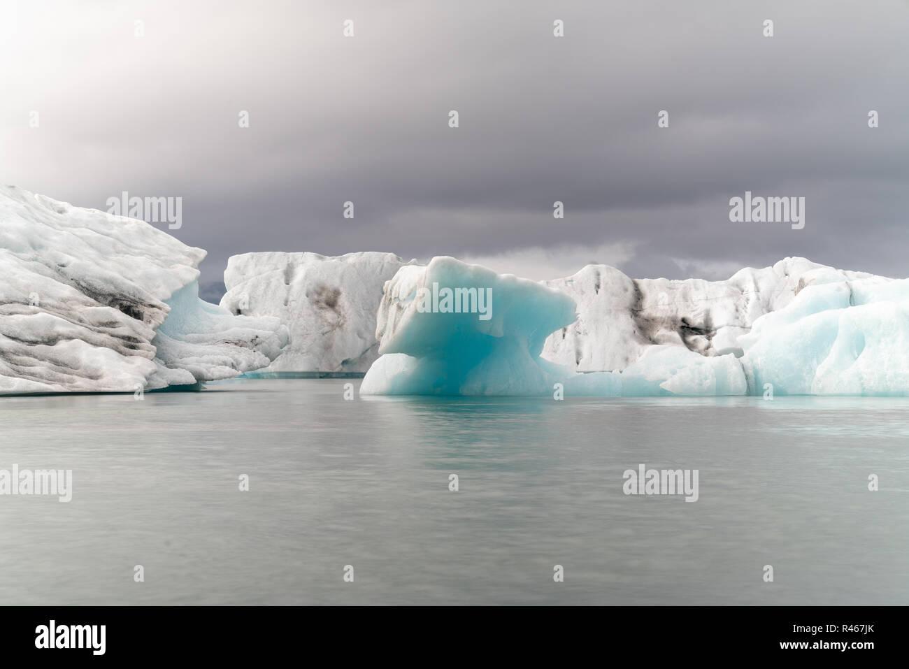 iceberg in ice lagoon - Jokulsarlon, Iceland - Stock Image