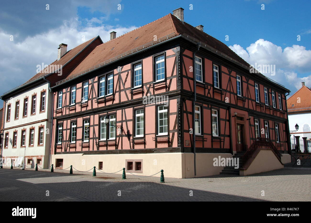 la maison des bailli au lauterbourg / alsace Stock Photo