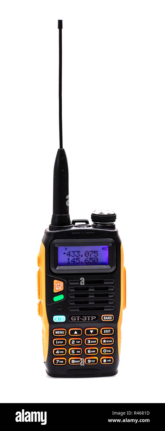 SWINDON, UK - NOVEMBER 18, 2018: BOAFENG GT-3TP Dual Band VHF/UHF Amature tranceiver radio, Stock Photo
