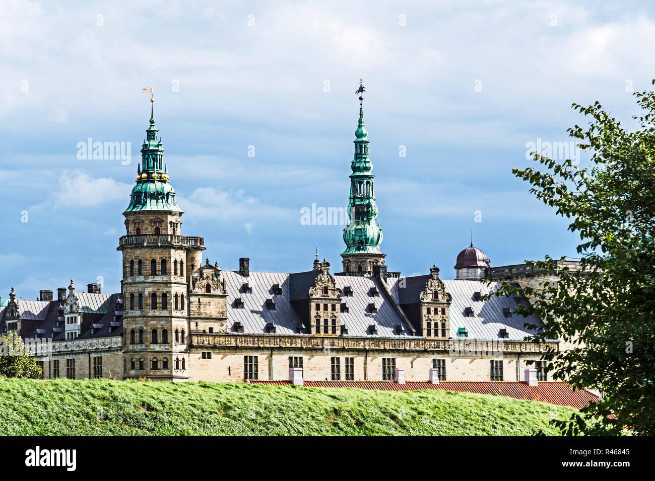Dänemark: Schloss Kronborg vor Helsingör; Denmark: Helsingör , - Stock Image