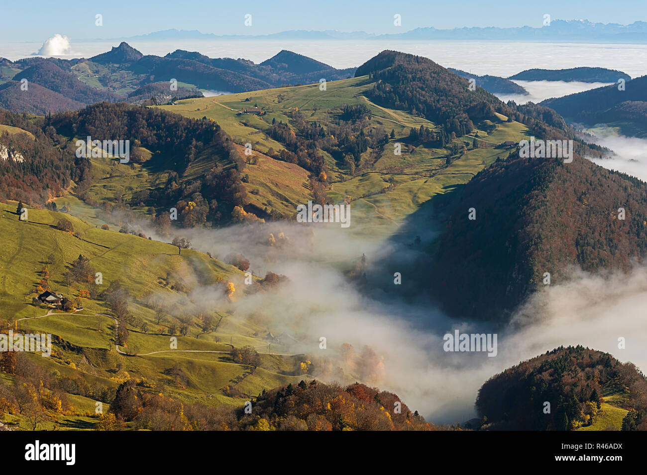 view from the south-west passwang - Stock Image
