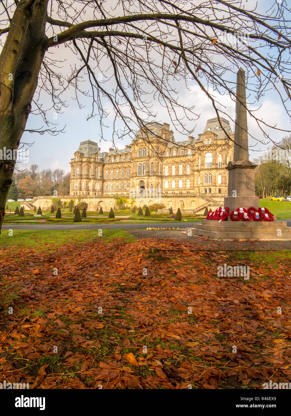 The Bowes Museum in the Teesdale market town of Barnard Castle County Durham founded by John and Josephine Bowes 1869 in the style of a French Chateau - Stock Image