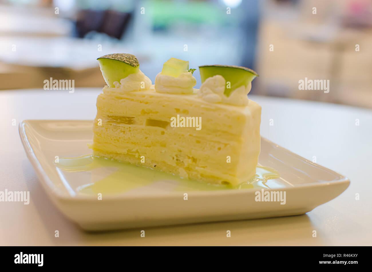 Melon Cake - Stock Image