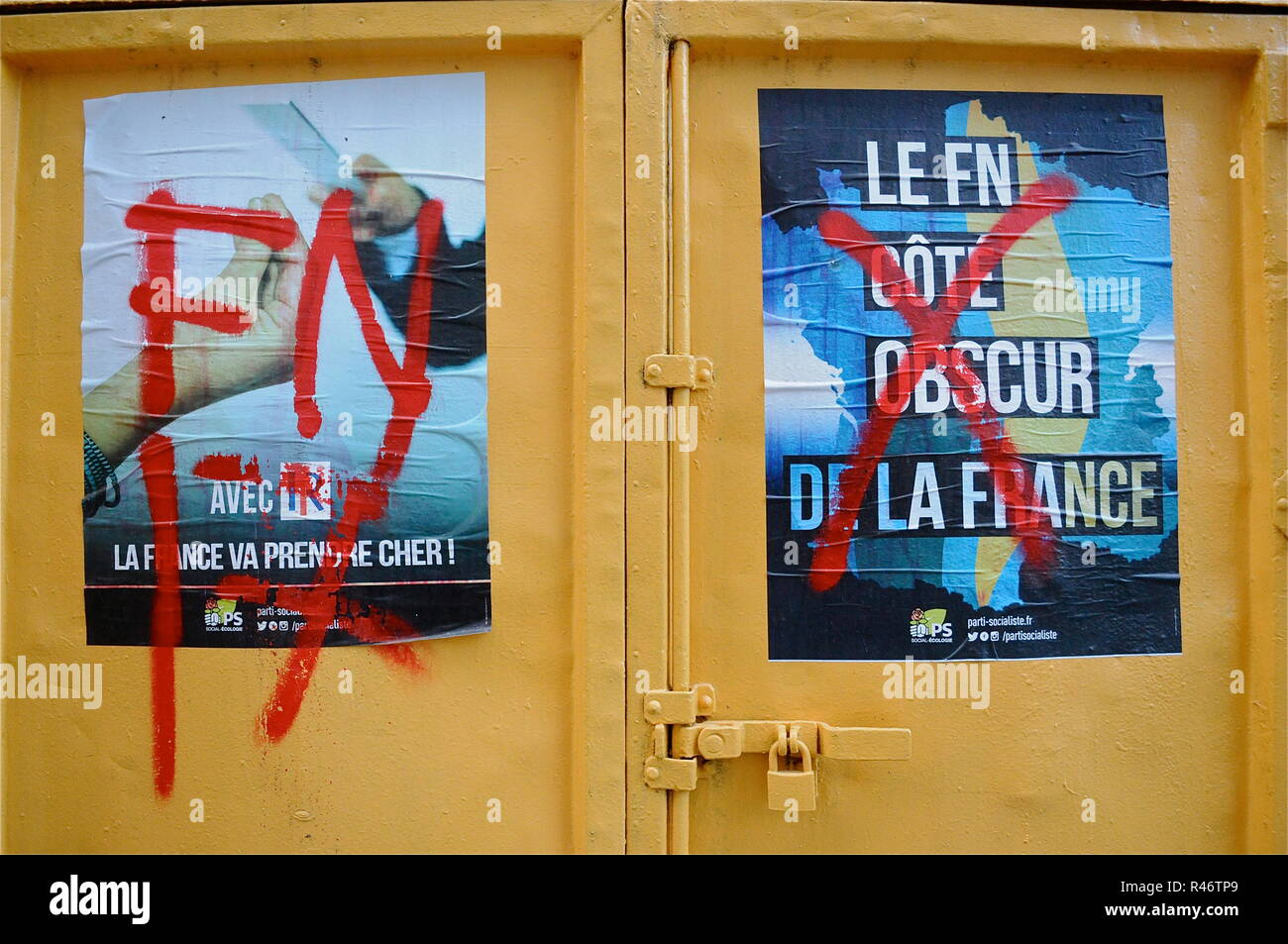 Far-Right wing in Lyon, france - Stock Image