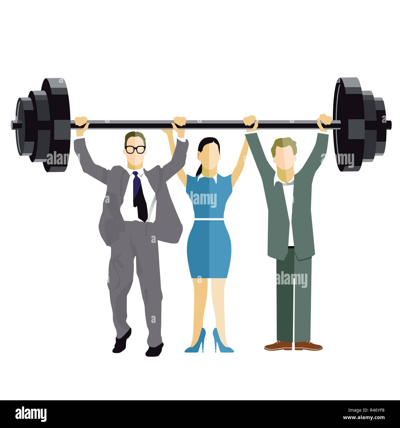 business weightlifting Stock Photo
