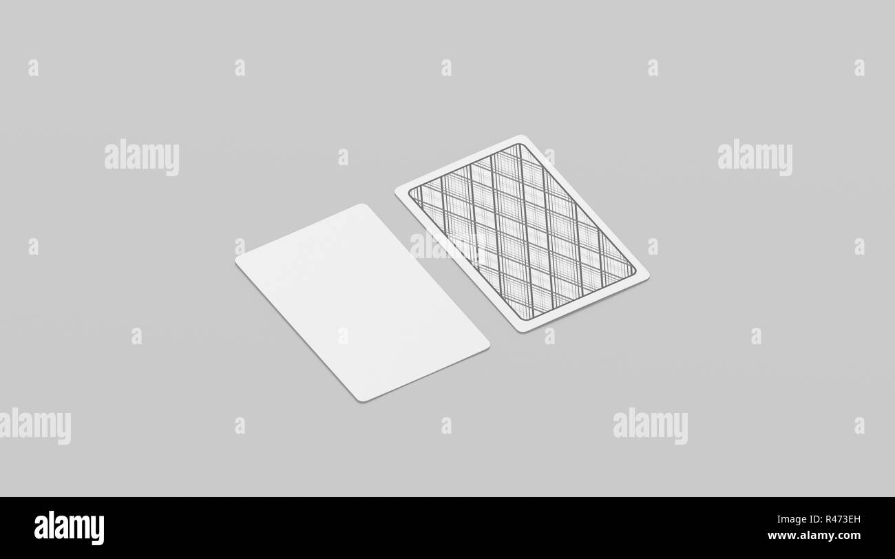 Blank white playing cards mock up, isolated, 21d rendering. Empty With Regard To Deck Of Cards Template