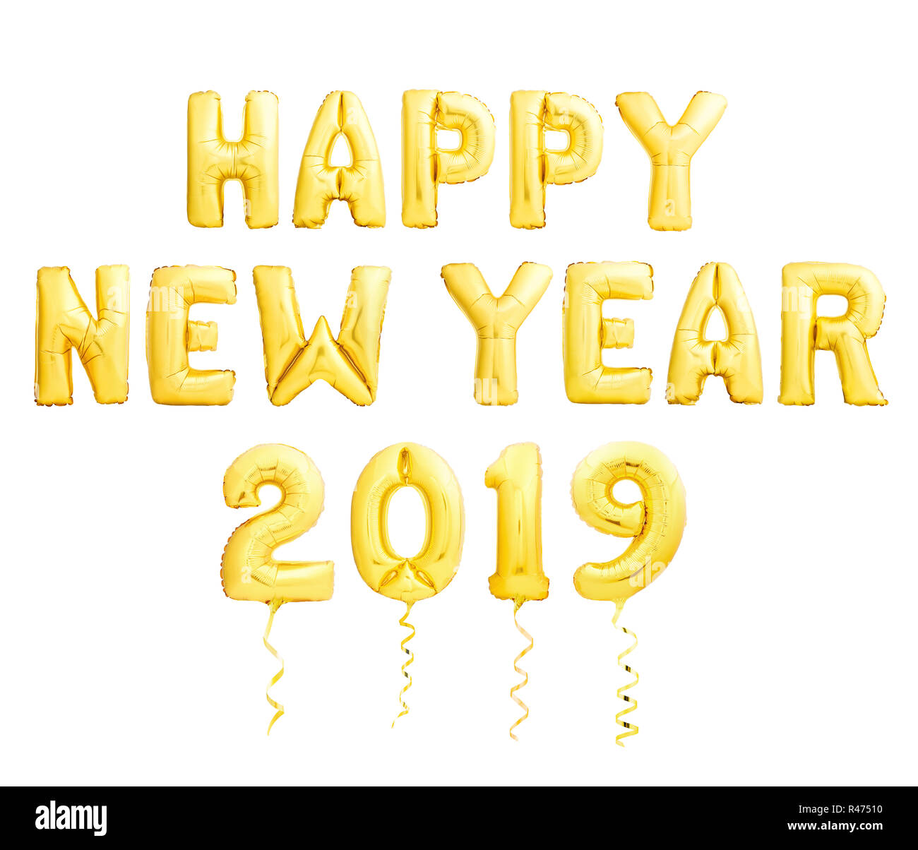 happy new year 2019 high resolution stock photography and images alamy https www alamy com happy new year 2019 concept made of golden inflatable balloons isolated on white background image226351020 html