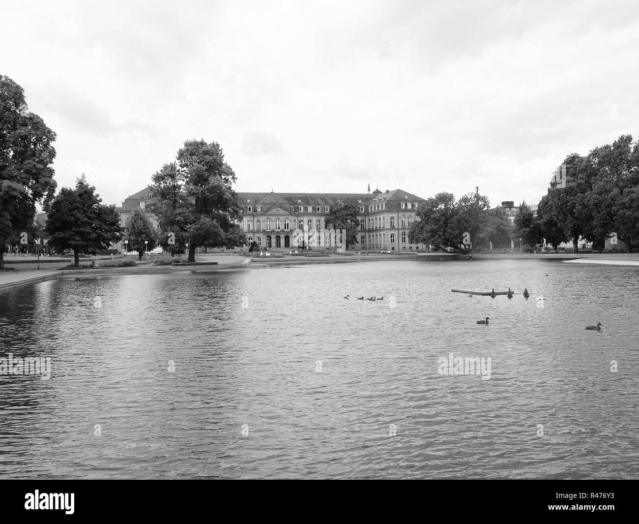 Gardens in Stuttgart Germany - Stock Image