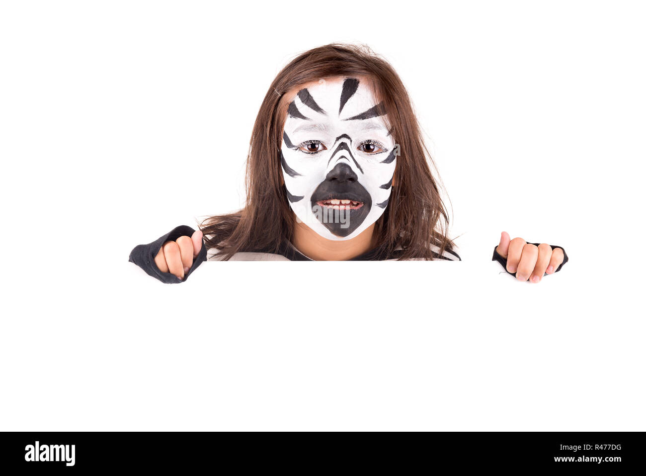 Children Zebra Face Painting High Resolution Stock Photography And Images Alamy