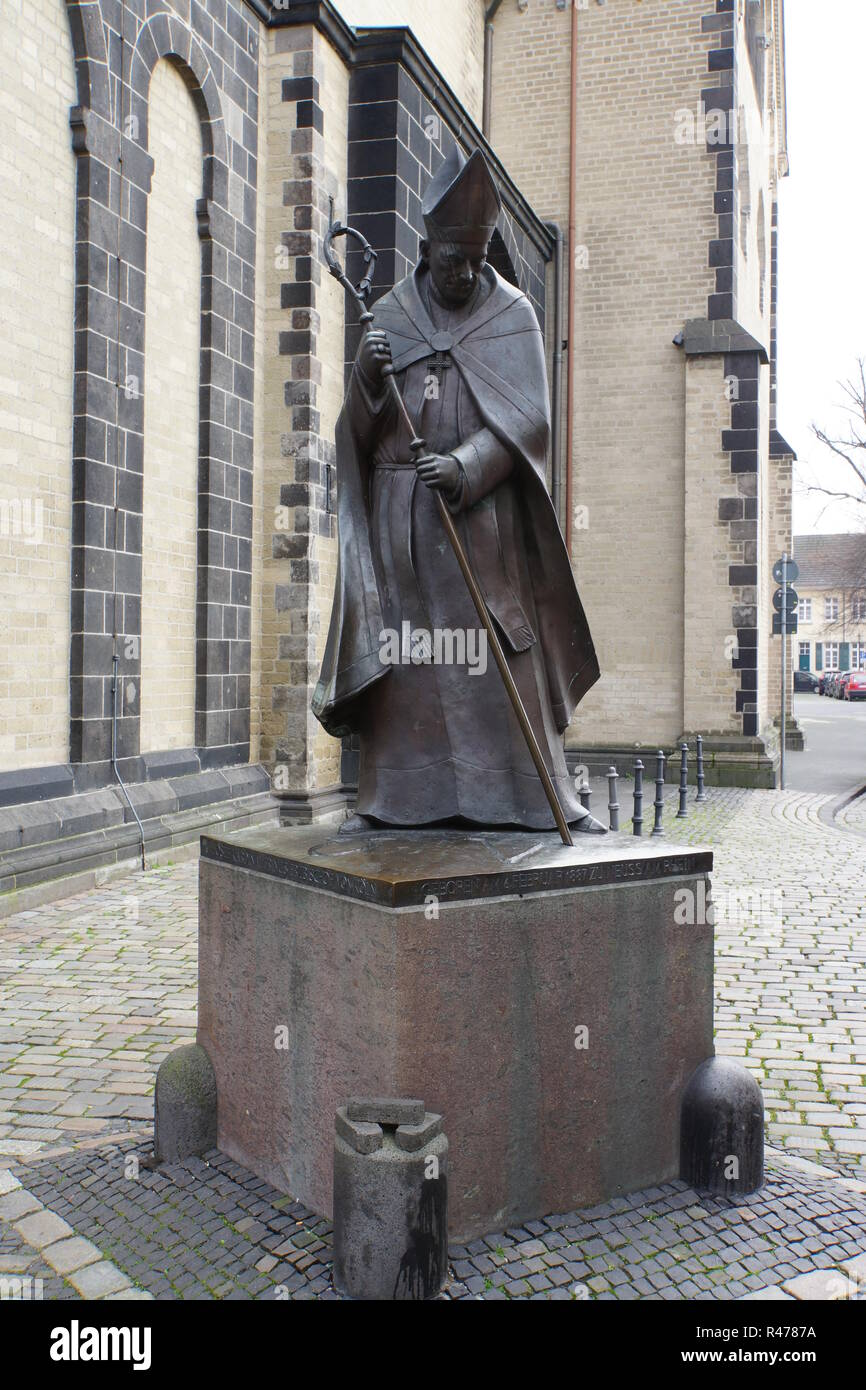 monument cardinal joseph frings,archbishop of cologne Stock Photo