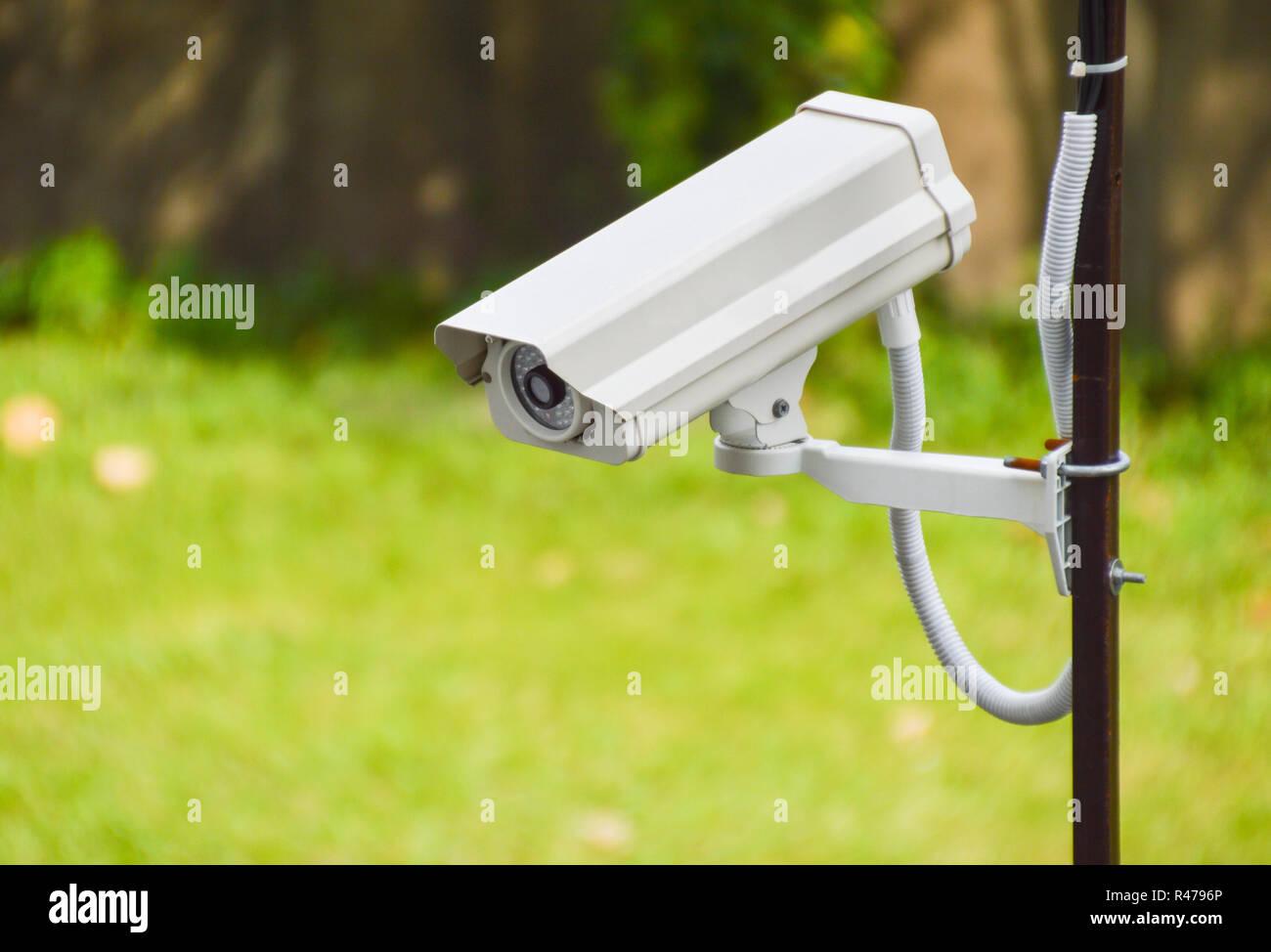 CCTV at wall - Stock Image