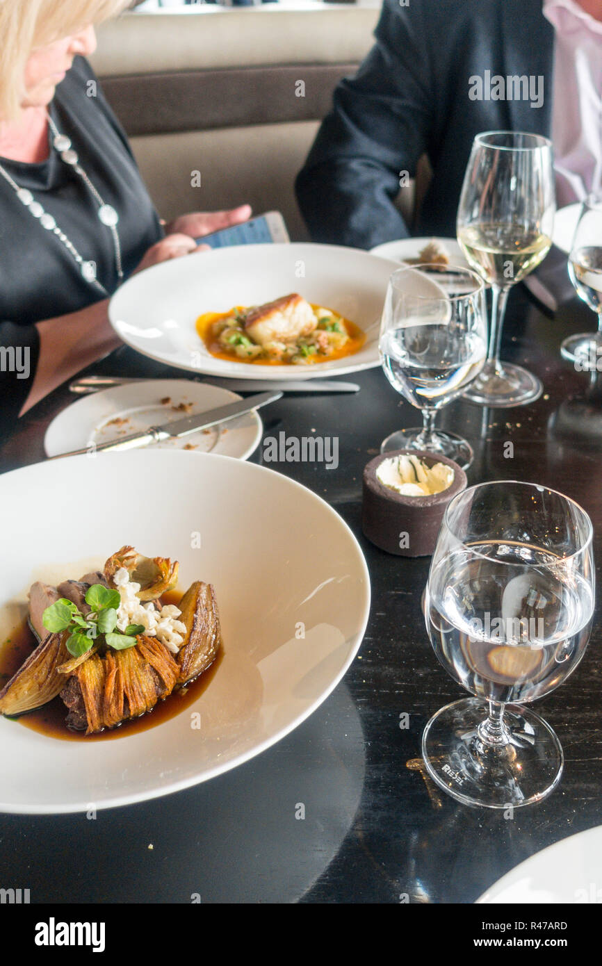 Lunch at the City Social, London, London uk, Tower 42 Stock Photo