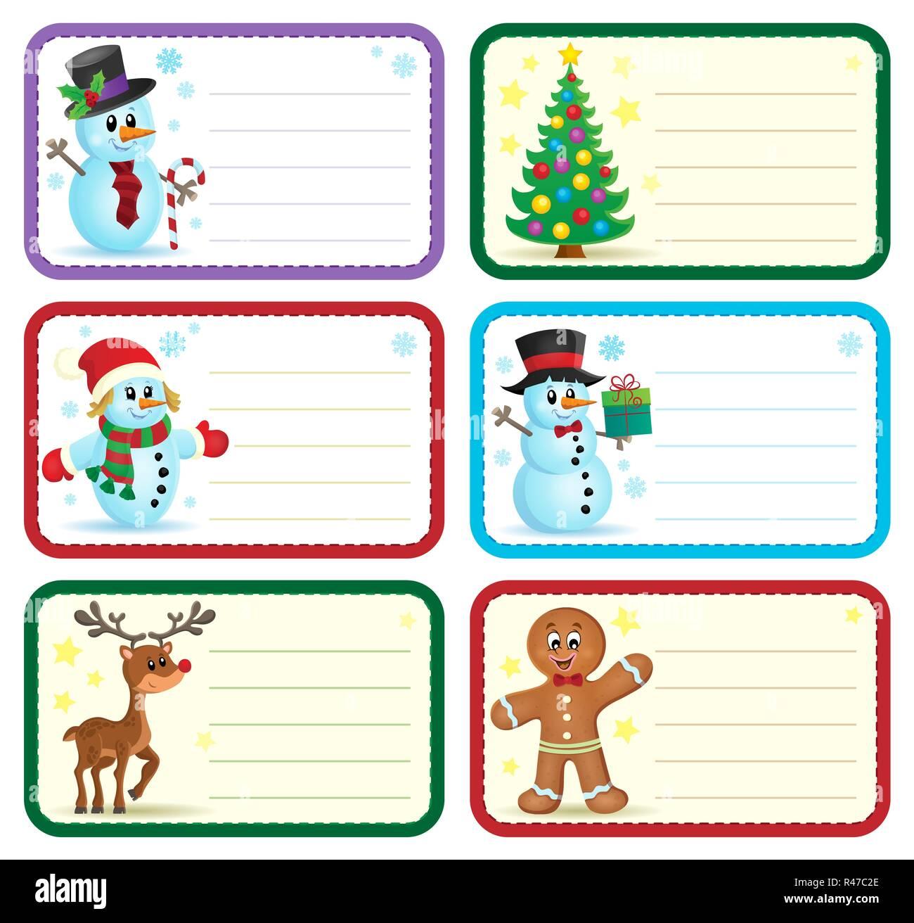 Christmas Name Tags.Christmas Name Tags Collection 1 Stock Photo 226356550 Alamy