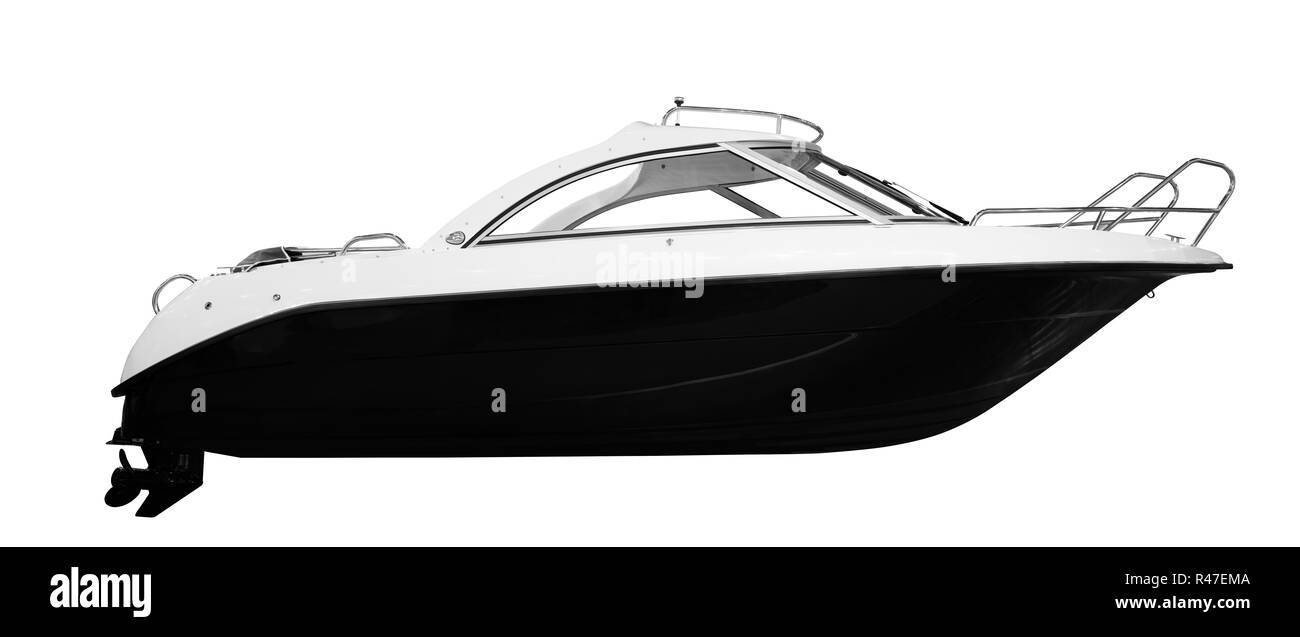 The image of an passenger motor boat Stock Photo