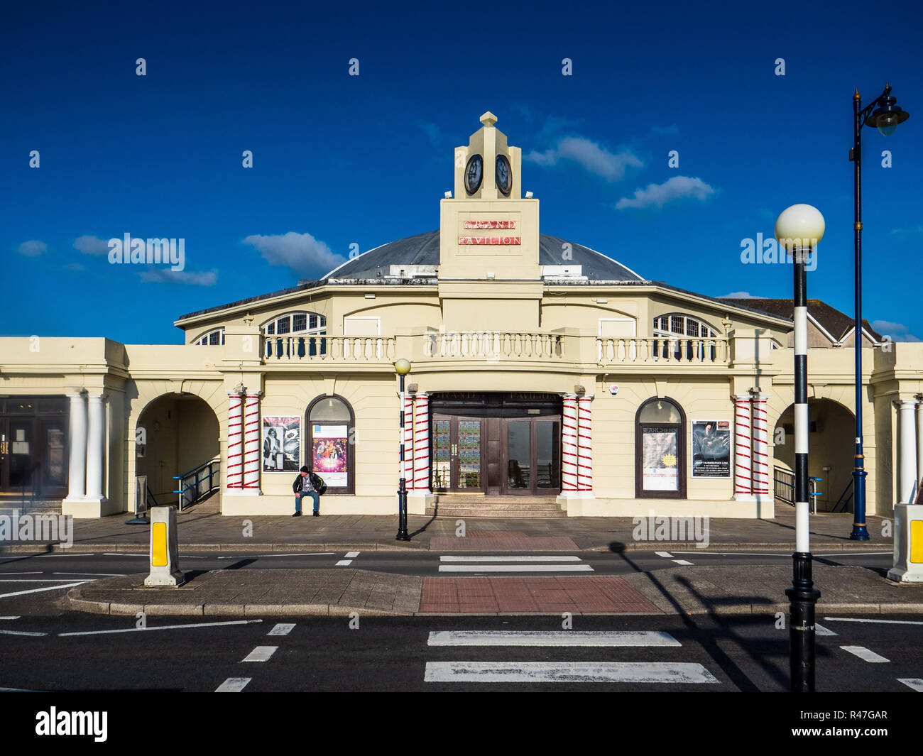 Porthcawl Grand Pavilion Theatre on the Seafront in the South Wales seaside resort of Porthcawl, Opened 1932. - Stock Image