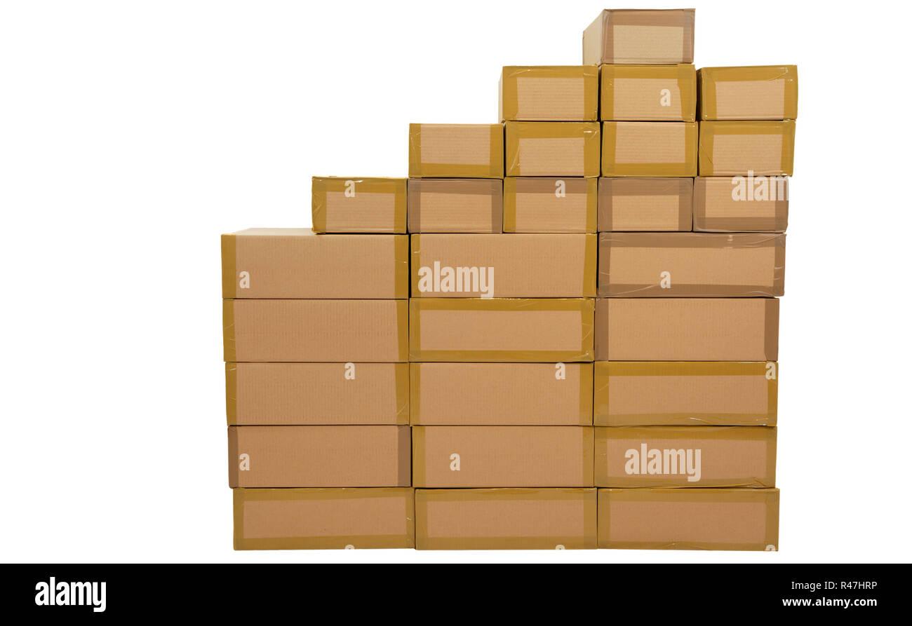 cartons Stock Photo