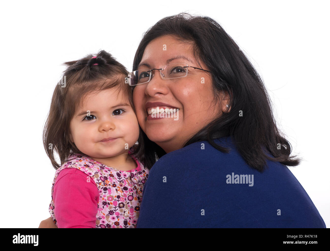 peruvian mother with one year child - Stock Image