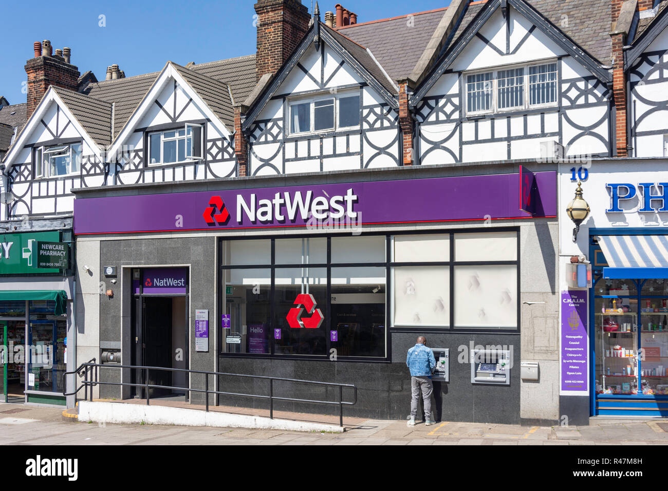 NatWest Bank, Station Approach, Willesden Green, Willesden, London Borough of Brent, Greater London, England, United Kingdom - Stock Image