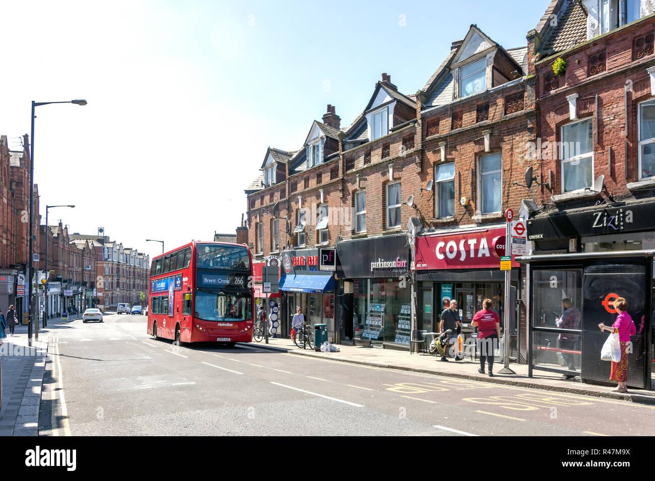 Walm Lane, Willesden Green, Willesden, London Borough of Brent, Greater London, England, United Kingdom - Stock Image