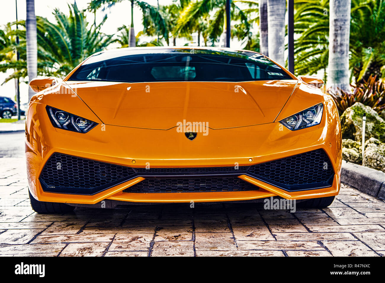 Miami Florida Usa February 19 2016 Supercar Lamborghini