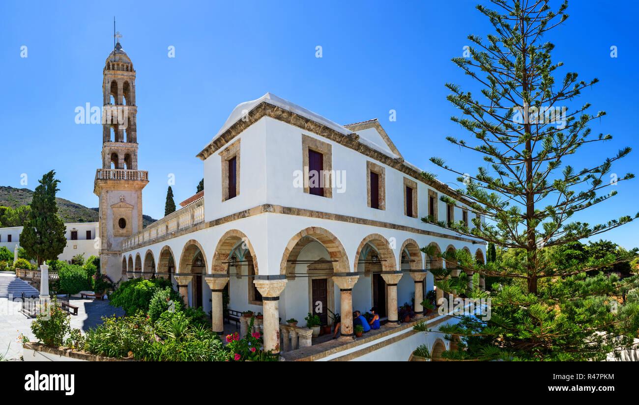 Myrtidiotissa Christian monastery in Kythira island, Greece. - Stock Image