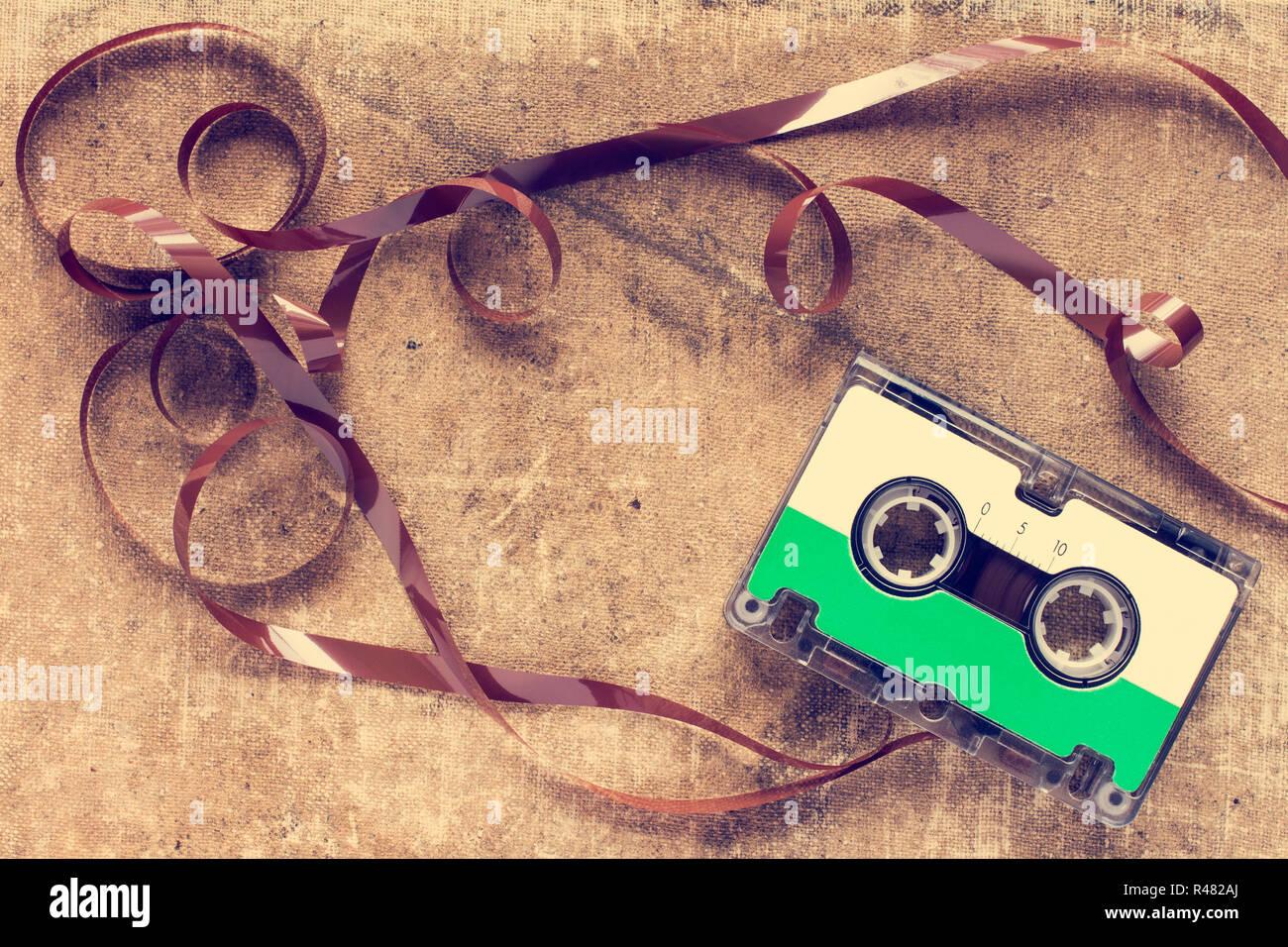 Vintage compact cassette - Stock Image